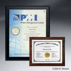 "Certificate/Overlay Plaque for 8"" x 6"" Insert"