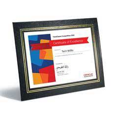 Leatherette Frame with Gold Accent Certificate Holder