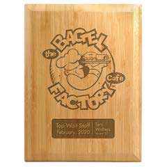 Bamboo Laser Plaque