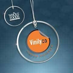 Clear Glass Beveled Circle Ornament