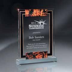 Large Digi-Color Lucite Award