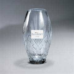 Deep Carved Crystal Vase