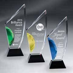 Vibrant Gemstone Award w/ Gemstone