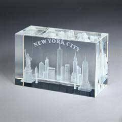 Optic Crystal Cube 3-D Imprint