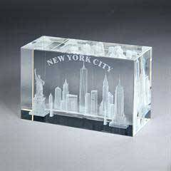 3D Etched Rectangle - Large