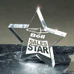 Lucite Star Award Paperweight