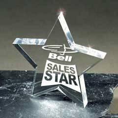 Lucite Star Award Paperweight
