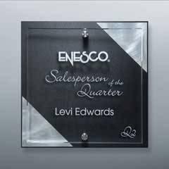 Black Diagonal Silver Riser Plaque