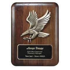 Plaque w/ Gold Eagle Metal Casting (lrg)