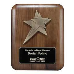 Plaque w/ Gold Stars Metal Casting (med)