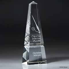 Optic Crystal Obelisk (med)