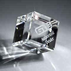 Optic Clear Crystal Cube - Small