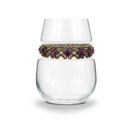 BWSAP - Blank Stemless Wine Glass Antique Purple Bracelet