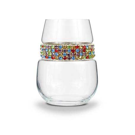 BWSCF - Blank Stemless Wine Glass Confetti Bracelet