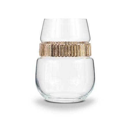 BWSCL - Blank Stemless Wine Glass Cleopatra Bracelet