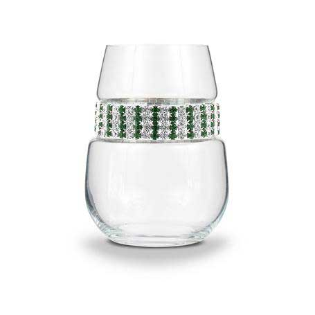 BWSEM - Blank Stemless Wine Glass Emerald Bracelet