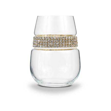 BWSGL - Blank Stemless Wine Glass Gold Bracelet
