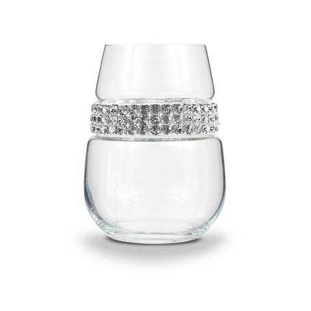 BWSSL - Blank Stemless Wine Glass Silver Bracelet