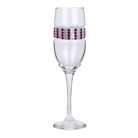 BCFAT - Blank Champagne Flute Amethyst Bracelet
