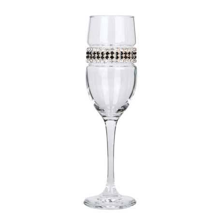 BCFBT - Blank Champagne Flute Black Tie Bracelet