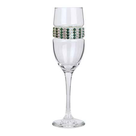 BCFEM - Blank Champagne Flute Emerald Bracelet