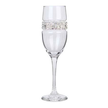 BCFSC - Blank Champagne Flute Silver Lace Bracelet
