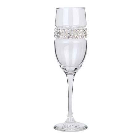 BCFSL - Blank Champagne Flute Silver Bracelet