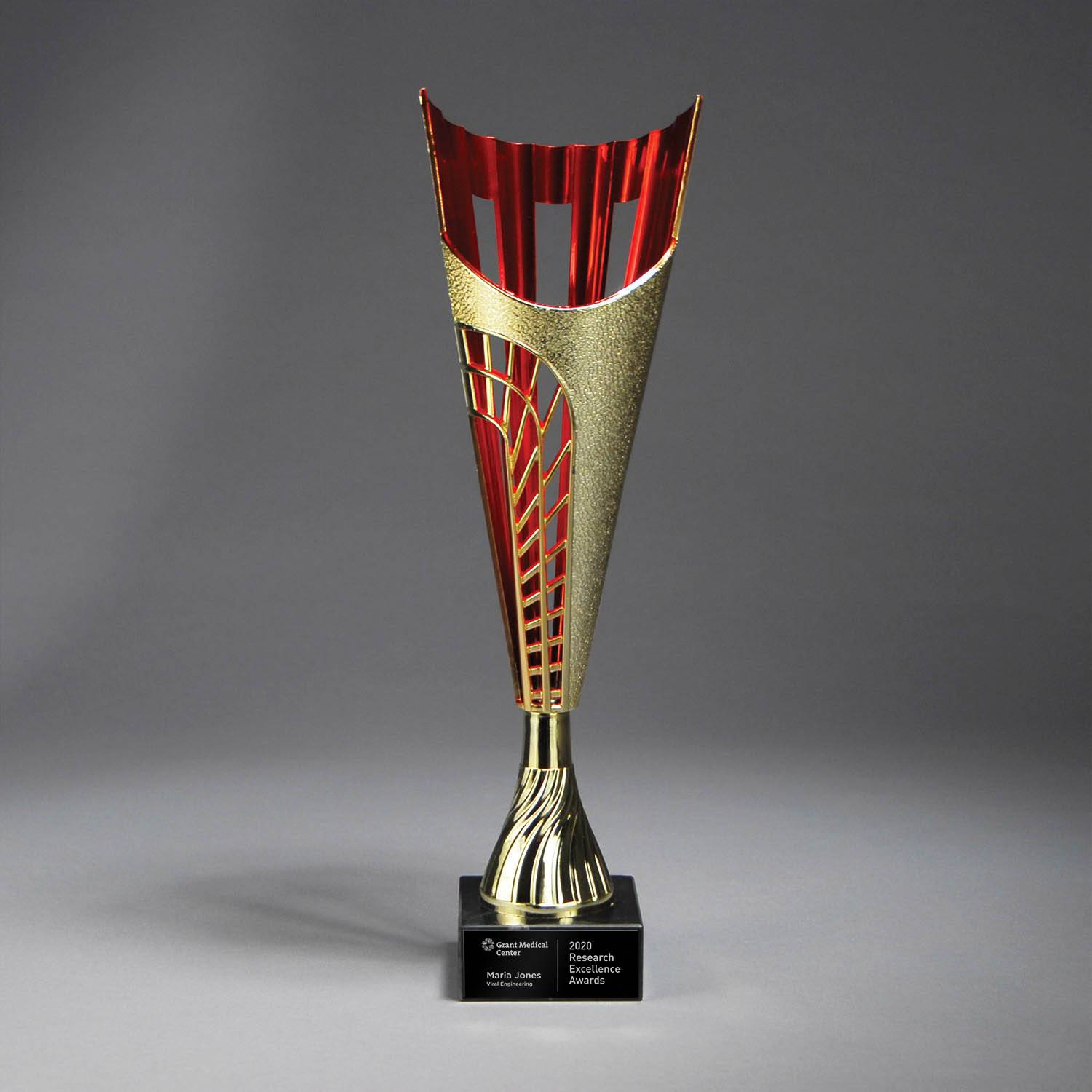 CM715AR - Gold Finish Plastic Cup on Marble Base
