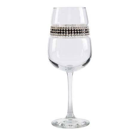 BFWBT - Footed Wine Glass Black Tie Bracelet