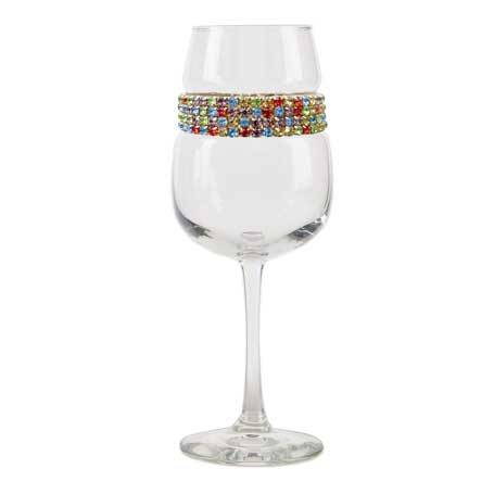 BFWCF - Blank Footed Wine Glass Confetti Bracelet