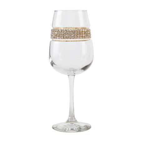 BFWGL - Blank Footed Wine Glass Gold Bracelet