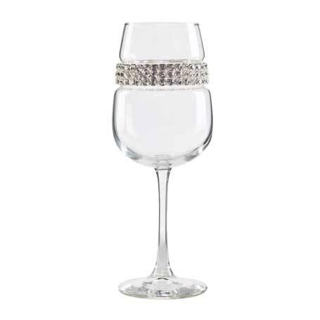 BFWSL - Blank Footed Wine Glass Silver Bracelet