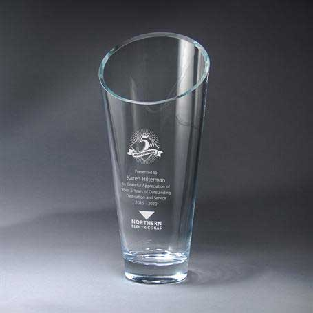 G0500C - Slant Top Vase - Large