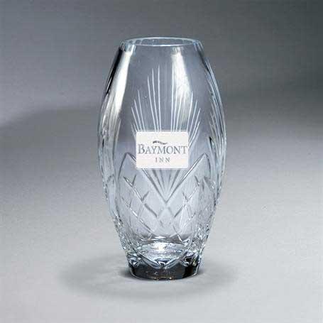 G0973 - Deep Carved Crystal Vase
