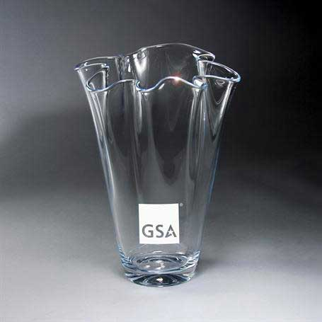 GI636C - Towering Clear Fluted Vase