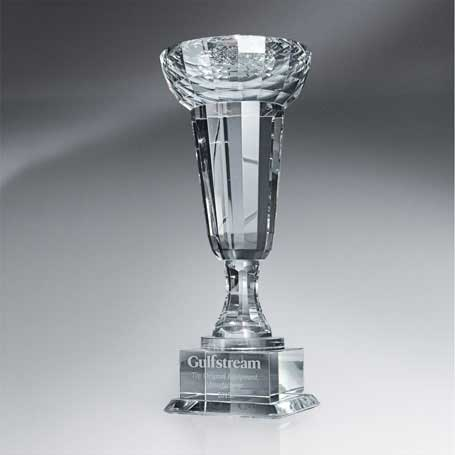 GM405C - Crystal Cup-Shaped Trophy - Large