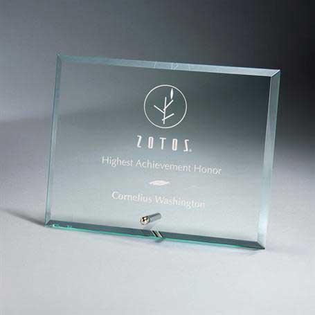 GM669C - Premium Horizontal Jade Glass Tablet with Metal Stand