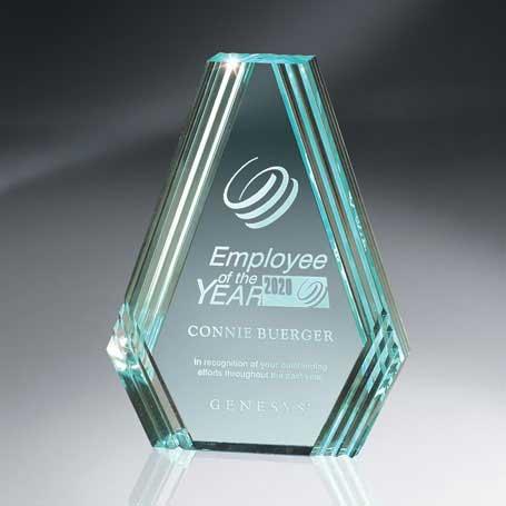 C506 - Jade Diamond Carved Desk Award