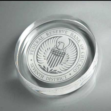 CD614 - Lucite Circle Paperweight