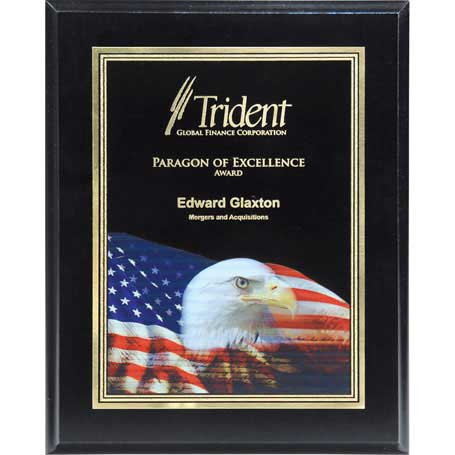 CD793E - Ebony Finish Plaque with Themed Florentine Plate