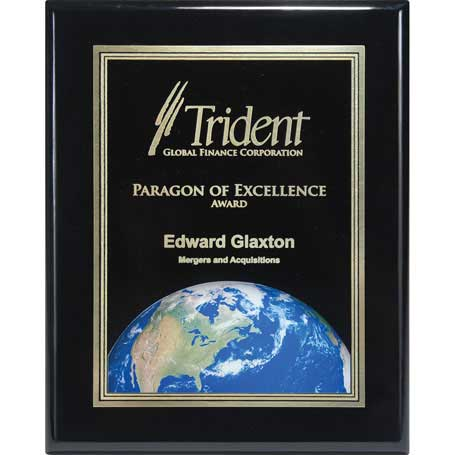 CD793G - Ebony Finish Plaque with Themed Florentine Plate
