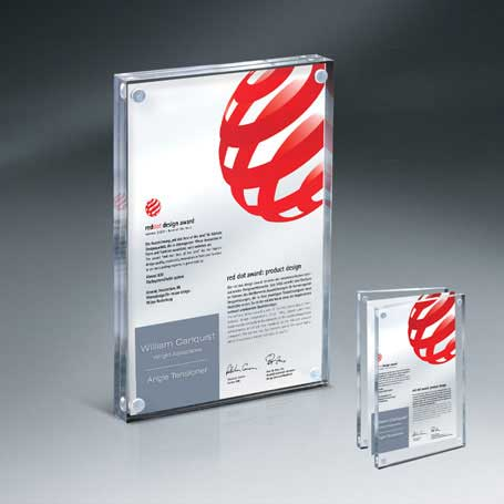CD882C - Magnetic Entrapment with Lasered Clear Front  and Clear Back Lucite - Large