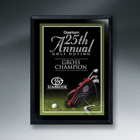 CM265A - Ebony Finish Golf Plaque - Small