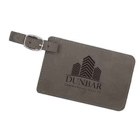 CM295GR - Leatherette Luggage Tag
