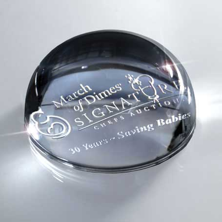 G0617 - Glass Domed Paperweight