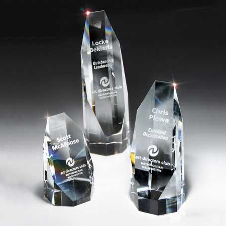 GI25 - Optic Crystal Octagon Tower - Large