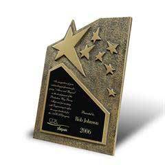 Star Cast Self-Standing Plaque