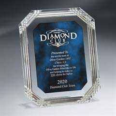 Diamond Carved Octagon Plaque