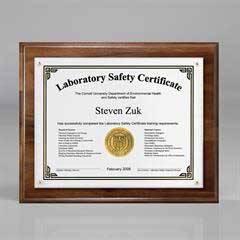 "Genuine Walnut Certificate/Overlay Plaque for 7"" x 5"" Insert"
