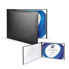 Padded Leatherette Certificate Holder